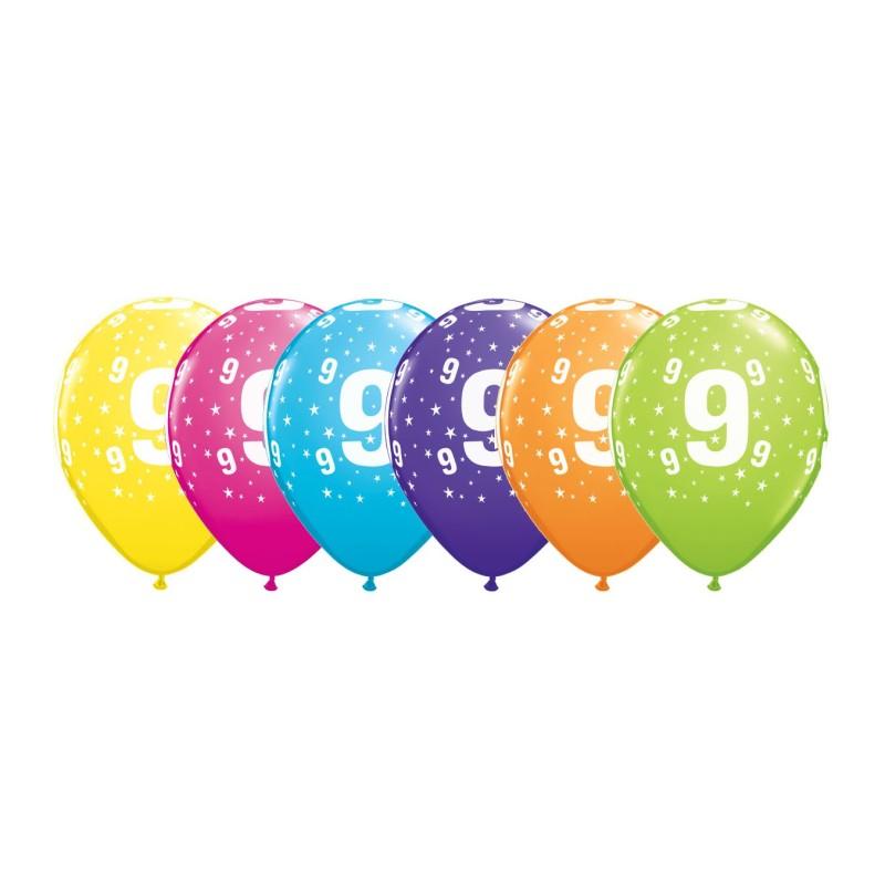 Potiskani balon številka 9