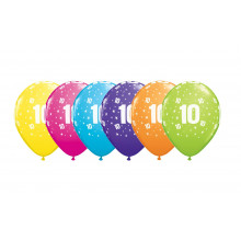 Printed balloons - number 10