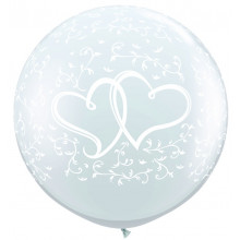 Giant balloon - Entwined hearts
