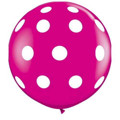 Wild berry giant polka dot balloon