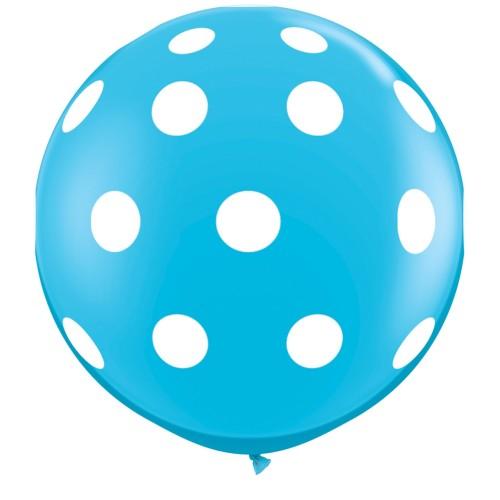 Robin's egg blue giant polka dot balloon