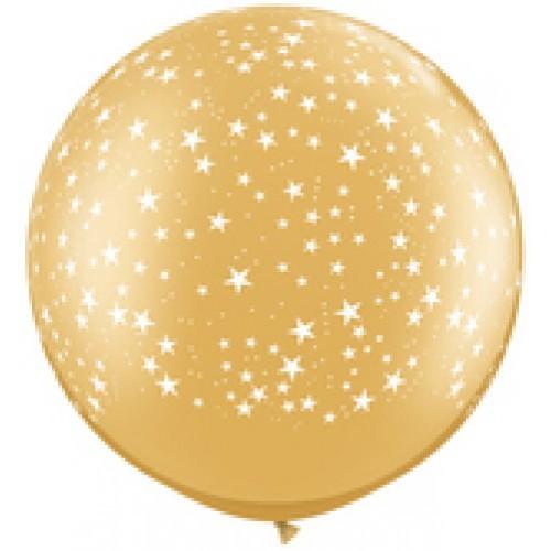 Gold giant balloon - stars