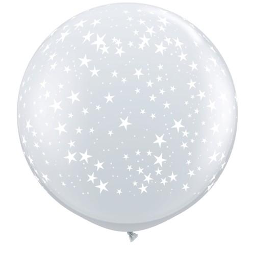 Diamond clear giant balloon - stars