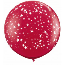 Ruby red giant balloon - stars