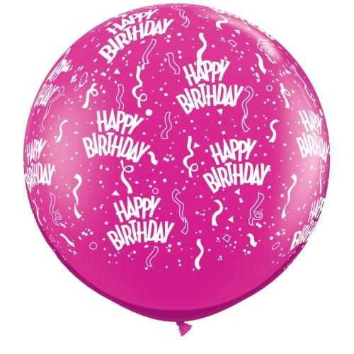 Yewel magenta  giant balloon - Birthday