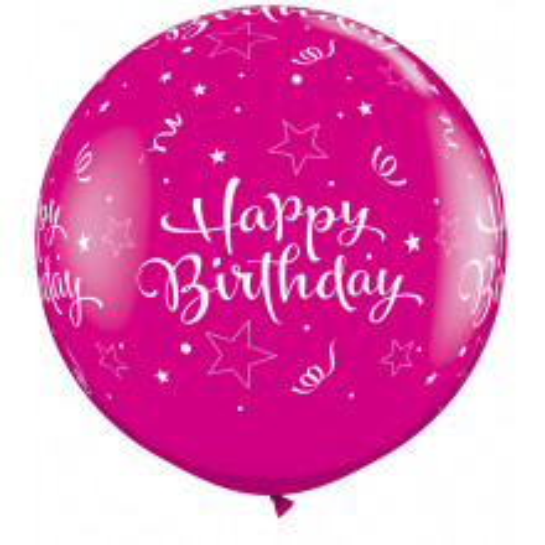 Wild berry veliki tiskani balon - Birthday Shining Star