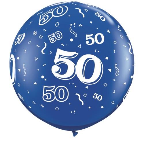 Sapphire blue giant balloon - 50