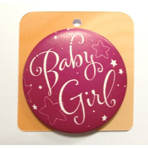 Button Anstecker Brosche - Baby Girl