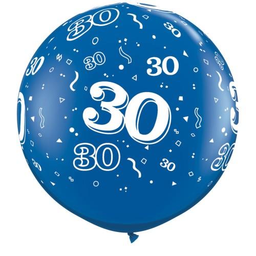 Sapphire blue giant balloon - 30