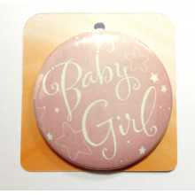 Baby pink button badge - Baby Girl