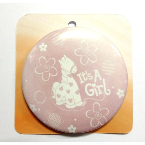 Button Anstecker Brosche - It's a girl