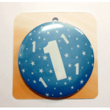 Blue button badge - Number 1
