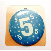 Blue button badge - Number 5