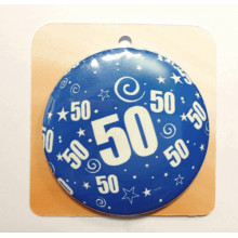 Blue button badge - Number 50