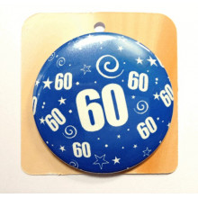 Blue button badge - Number 60