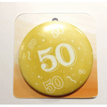 Gold button badge - Number 50