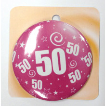 Rose button badge - Number 50