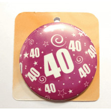 Rose button badge - Number 40