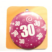 Rose button badge - Number 30