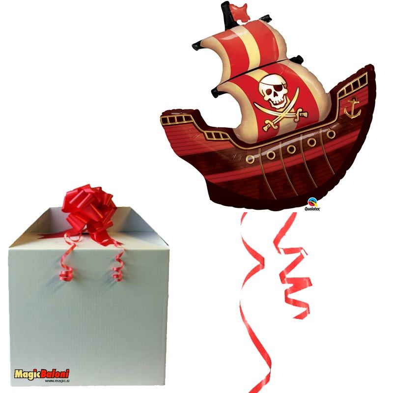 Gusarji - balon Pirate Ship - napihnjen