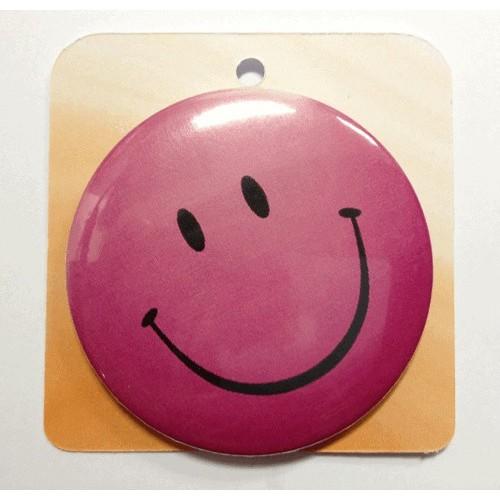 Rose button badge - Smile face