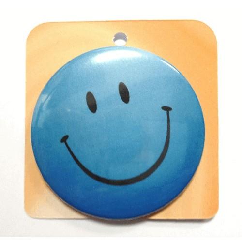 Blue button badge - Smile face