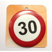 Traffic sign button badge - Number 30