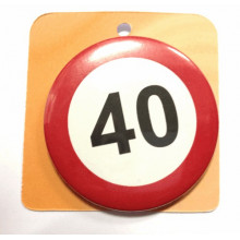 Traffic sign button badge - Number 40