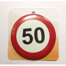 Traffic sign button badge - Number 50