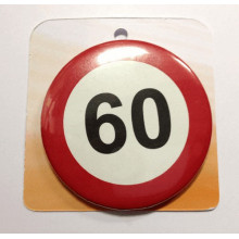 Traffic sign button badge - Number 60