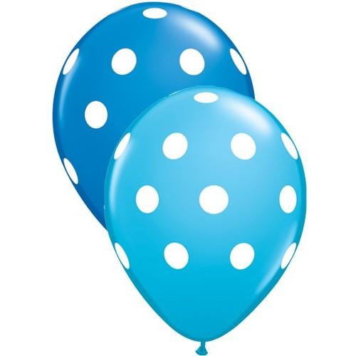 Blue polka dot balloon