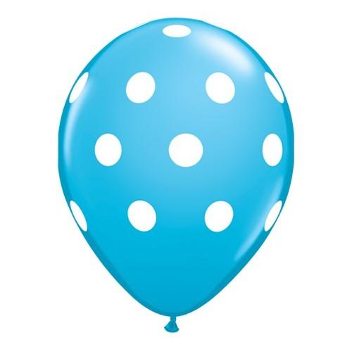 Robin's egg blue polka dot balloon