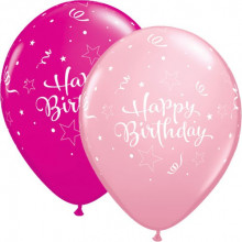 Birthday Shining Star - wild berry & pink