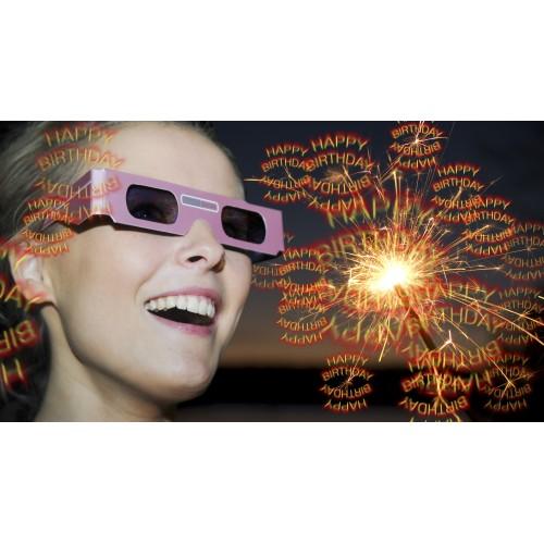 3D glasses Happy Birthday