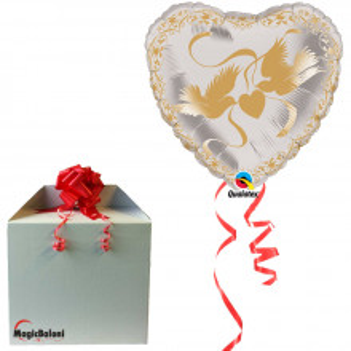 Crystal Doves Heart Gold - napihnjen