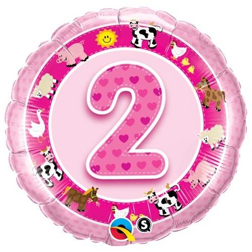 Age 2 Pink Farm Animals
