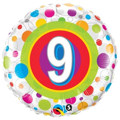 Age 9 Colourful Dots