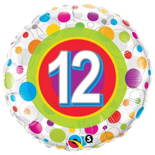 Age 12 Colourful Dots