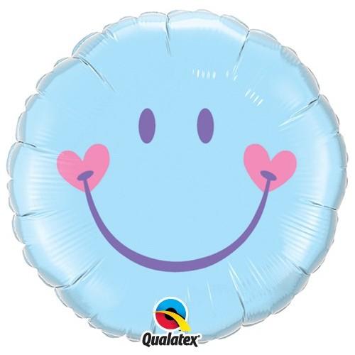 Sweet Smile Face - Pale Blue