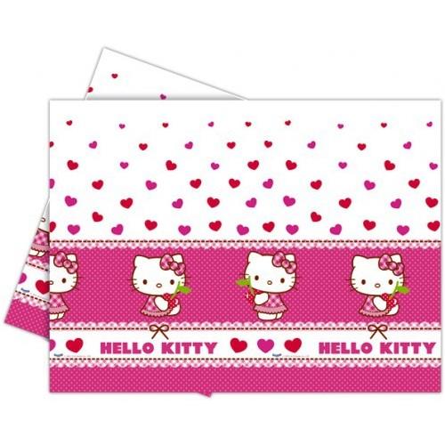 Hello Kitty hearts tablecover