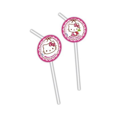 Hello Kitty hearts drinking straws