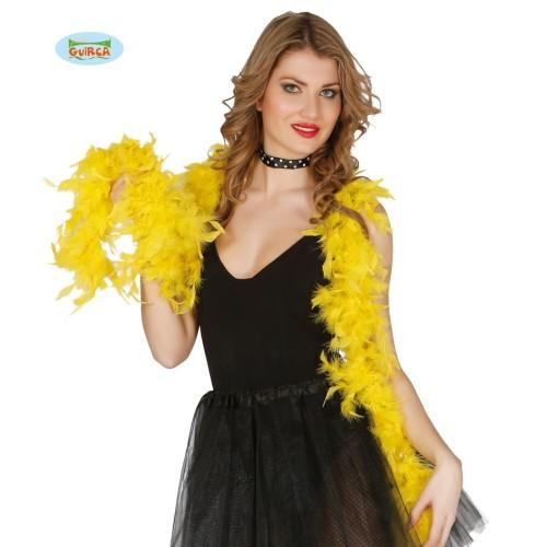 Boa- yellow  feather