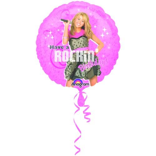 Hannah Montana Rocking Happy Birthday balon