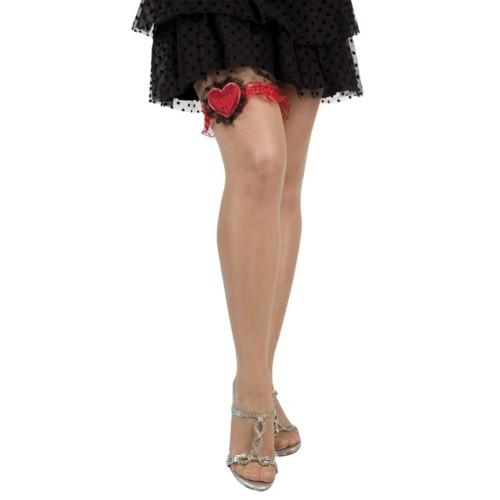 Heart leg garter