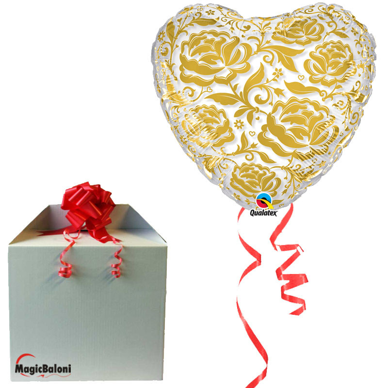 Crystal Roses & Flowers Gold - folija balon v paketu