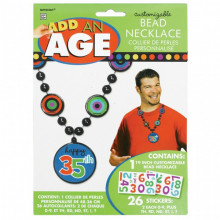 Add an Age - blue bead necklace