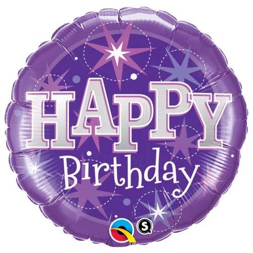 Birthday Purple Sparkle