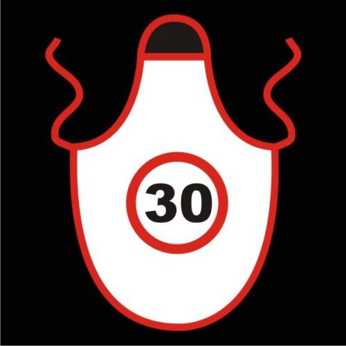 Speed limit apron 30