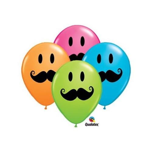 Balon Smile Face Mustache
