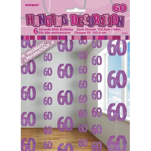 Pink viseča dekoracija 60